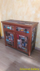 Mueble colonial reciclado pintado apardor consola 2cj.jpg