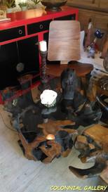 Mesa de Centro Raiz Teca Negra