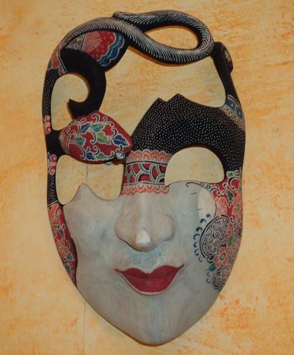 Máscara Javanesa Tallada