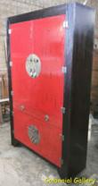 Mueble colonial oriental pintado armario rojo negro.jpg
