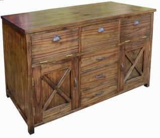 Mueble Lavabo Rústico Colonial