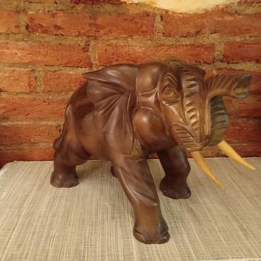 Talla Madera Elefante 40cm