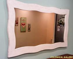Espejo Colonial madera Blanco rustic