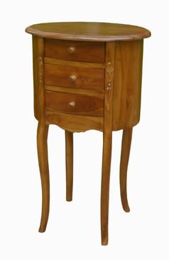 VR-1802-12C Mesita Auxiliar Vintage Oval