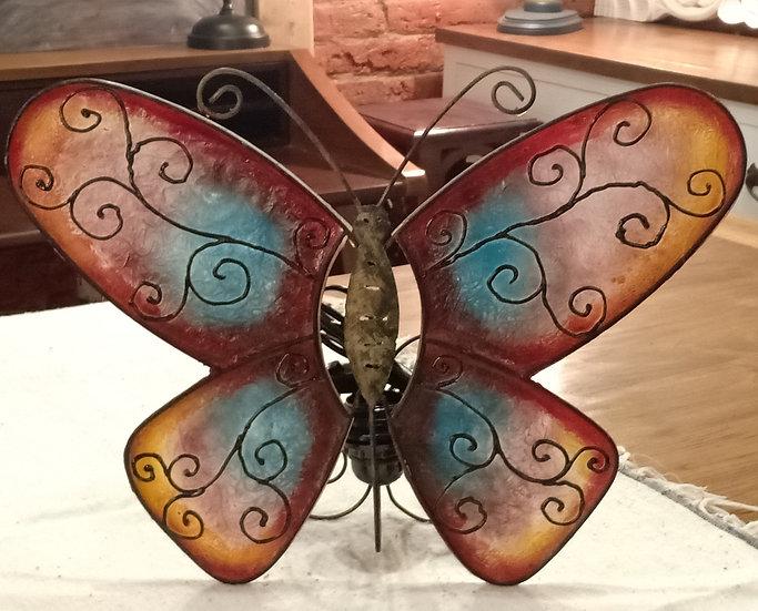Lámpara Mariposa Roja de Pared