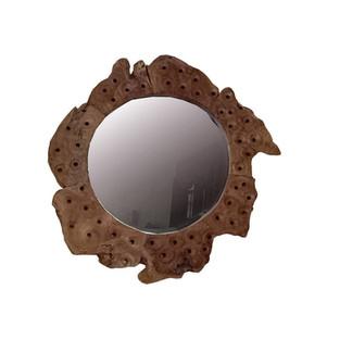 Espejo Rústico Teca Erosi redondo