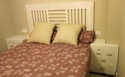 1709 Dormitorio Colonial Blanco Decapado