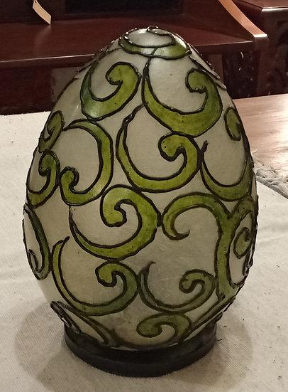 Lámpara Huevo Verde Damasco