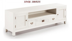 Mueble Tv Blanco Colonial