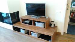 Mueble TV - Leñero Colonial Teca