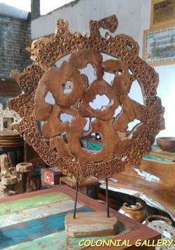 Peana circular de Teca