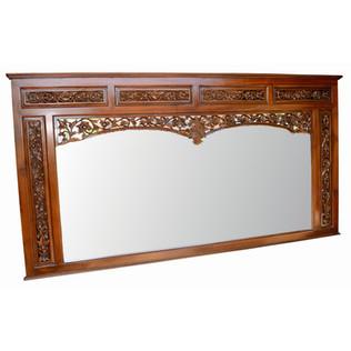Espejo Ventana Balinesa Tallada