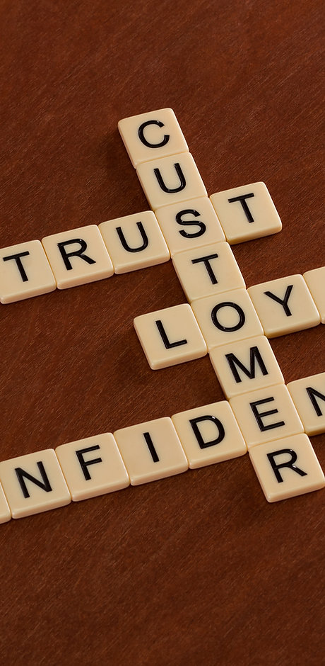 Crossword puzzle with words Trust, Loyal