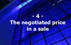 4. The negotiated price in a sale