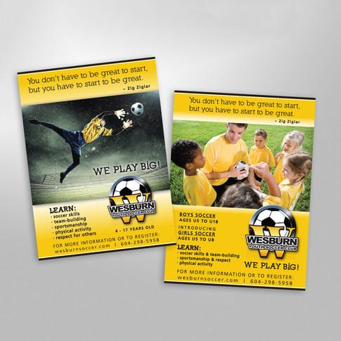 Wesburn Soccer Club Advertisement