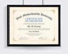 Certificate of Medicine Diploma