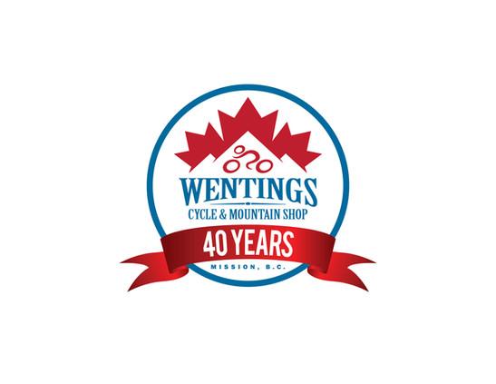 Wentings 40th Logo