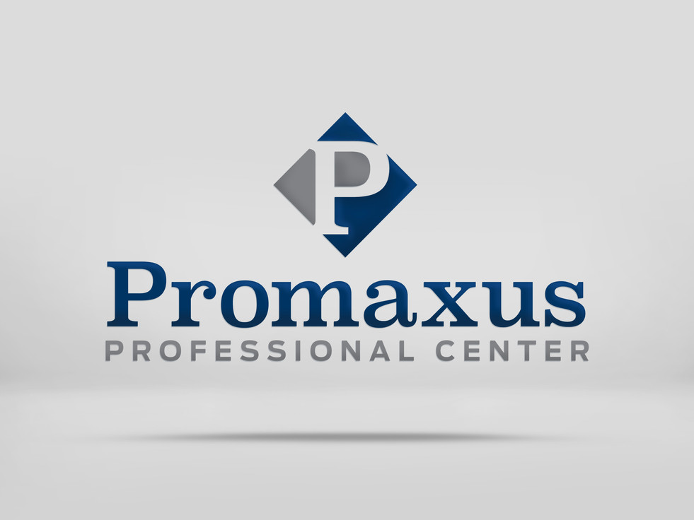 Promaxus Professional Center Logo mockup