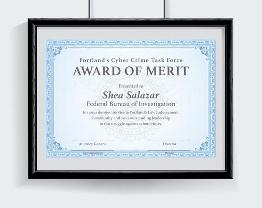 Award of Merit Certificate