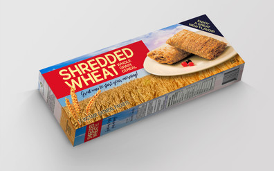Shredded Wheat Cereal Box