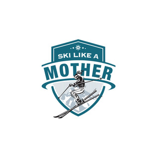 Ski Like A Mother Logo