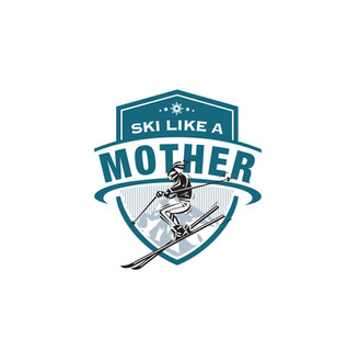 Ski Like A Mother Logo