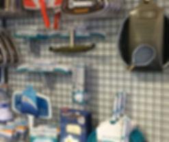 accessoire entretien épuisette brosse paroi balai aspirateur