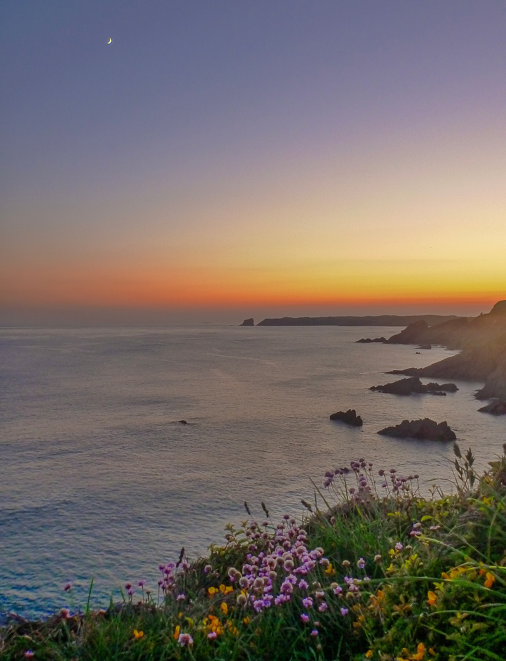 Sundown over Skomer.