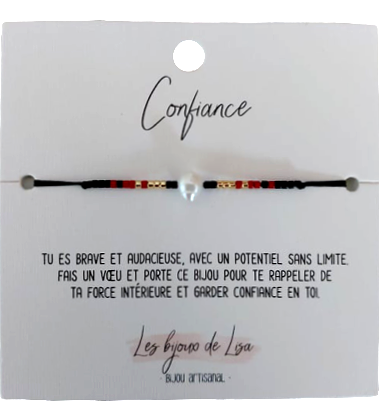 Bracelet Perles message Confiance