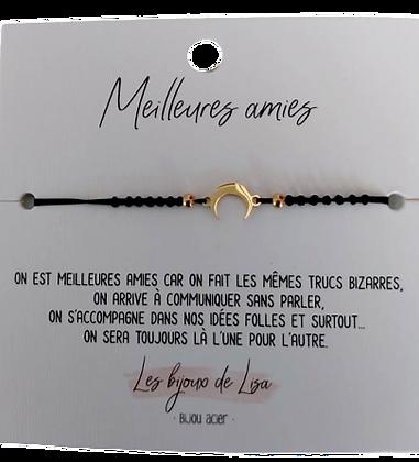Bracelet message Meilleures amies