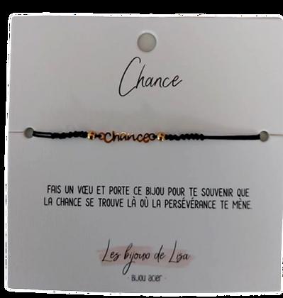 Bracelet message Chance