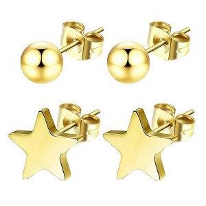 Boucles d'oreilles pour fille-Étoiles + Perles