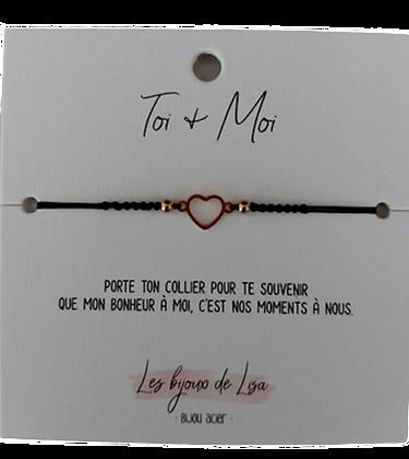 Bracelet message Toi + Moi