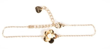 Bracelet Fleur Acier