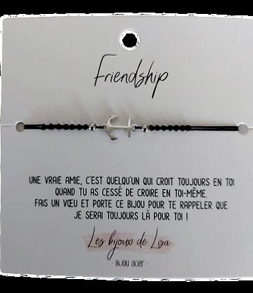 Bracelet message Friendship