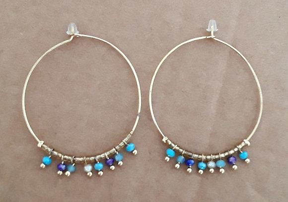 Boucles d'oreilles femme plaqué or
