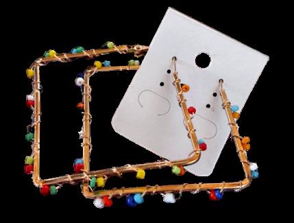 Boucle Créole perles
