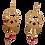 Thumbnail: Boucle Oreille  pendante IKITA