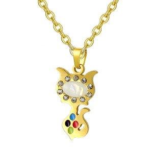 Collier pour fille -Petit chaton coloré