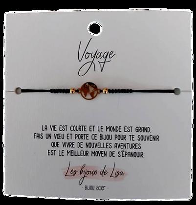 Bracelet message Voyage