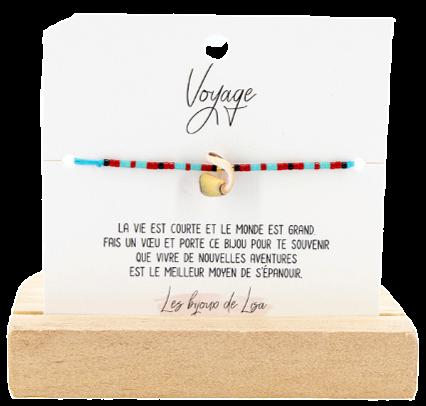 Bracelet Perles message Voyage