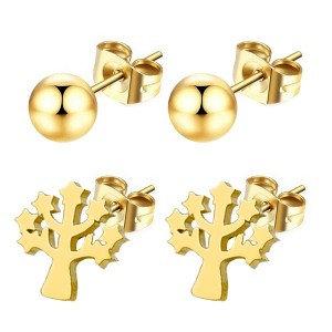 Boucles d'oreilles pour fille Perles + arbres