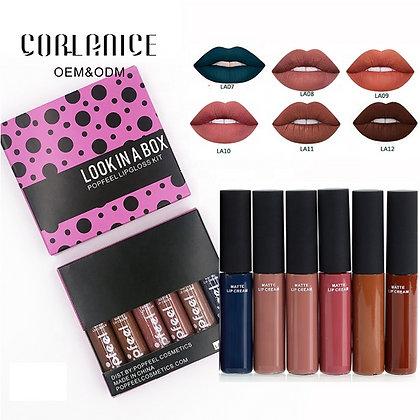Ensemble de rouge à lèvres anti-adhésif, rouge à lèvres durable et impe
