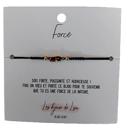 Bracelet message Force