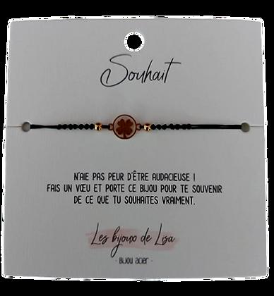 Bracelet message Souhait