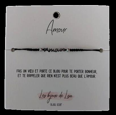 Bracelet message Amour