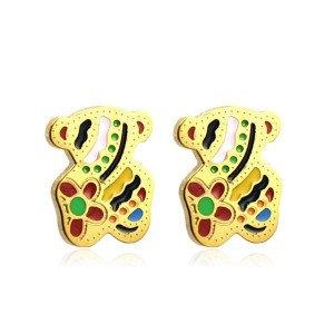 Boucles d'oreilles pour fille-Petit ourson coloré