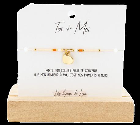 Bracelet Perles message Toi + Moi