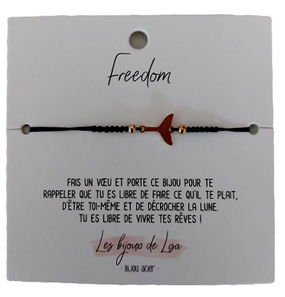 Bracelet message Freedom