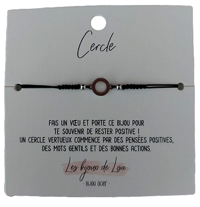 Bracelet message Cercle